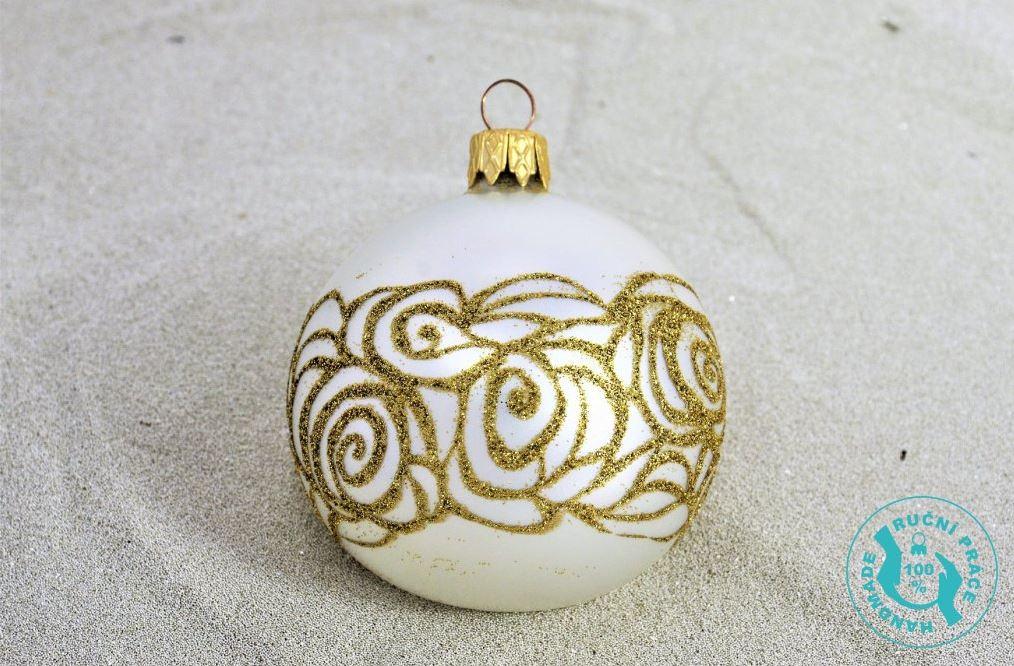 Skleněné vánoční ozdoby ručně foukané a malované