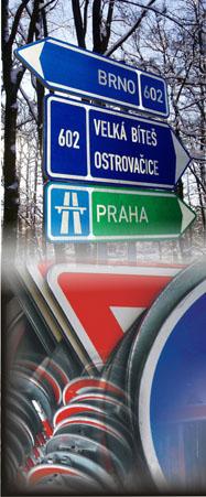 Návrhy dopravního značení, Třebíč, Vysočina