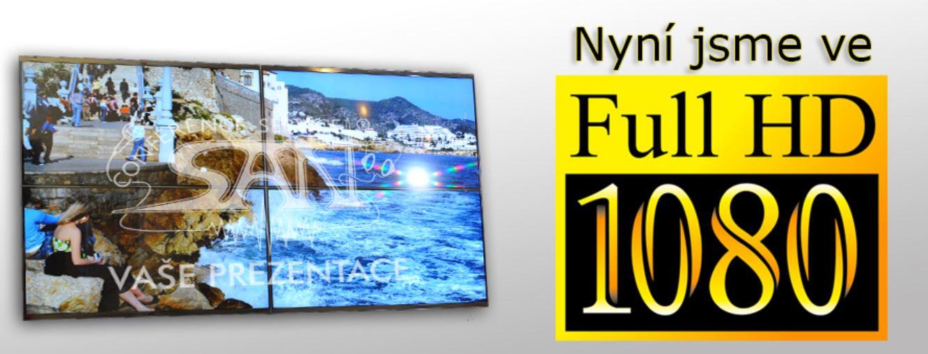 FullHD přenos obrazu i videa