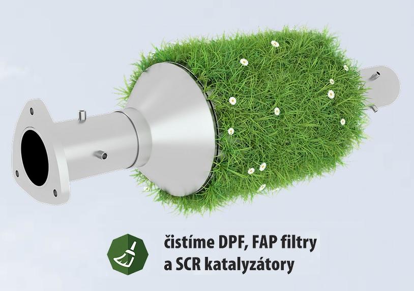 Čištění filtrů pevných částic, katalyzátorů - DPF cleaning na Moravě
