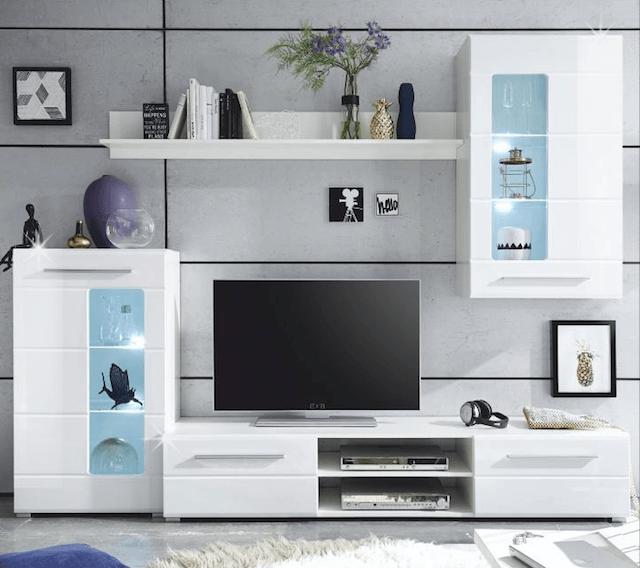 Prodej obývacích stěn Kolín - akce na moderní a vzdušné obývací stěny