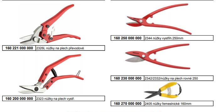Nůžky na plech Rostex