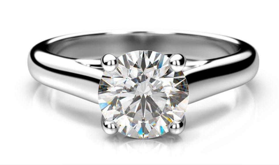 Zásnubní prsteny z bílého, žlutého a růžového zlata s diamantem, zásnubní sety, e-shop
