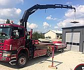 Jeřábnické práce, autodoprava s využitím hydraulické ruky