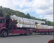 Ivo Sýkora, autodoprava s využitím hydraulické ruky, přeprava materiálu, strojů,soch