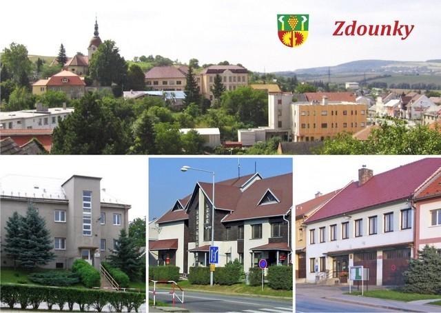 Obec Zdounky, vesnice na Kroměřížsku s malebným zámeckým parkem, vyhlášenou kulturní památkou