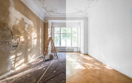 Stavební rekonstrukce bytů, koupelen, bytových jader, precizní zednické i obkladačské práce