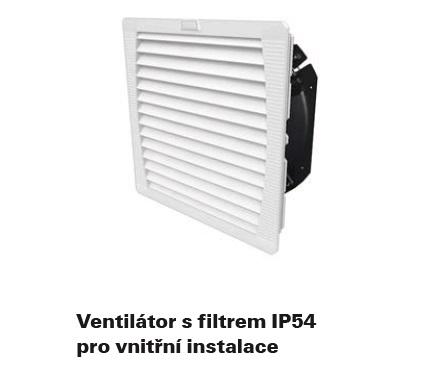 ventilátor s filtrem IP54 pro vnitřní použití