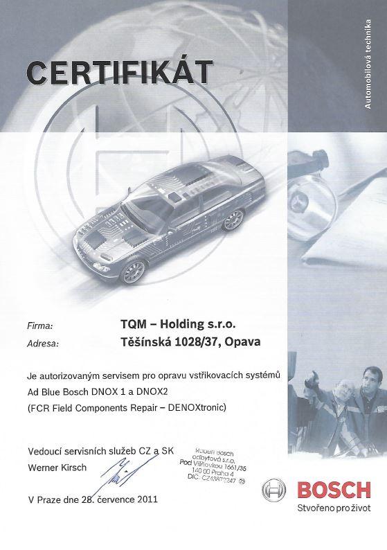 Jediné certifikované pracoviště v České republice - opravy čerpadelDeNOx aDENOXTRONIC