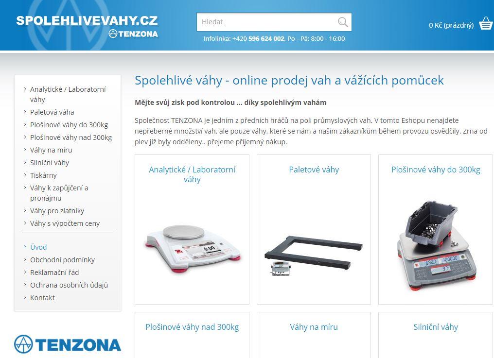 Náhled našeho e-hopu spolehlivevahy.cz