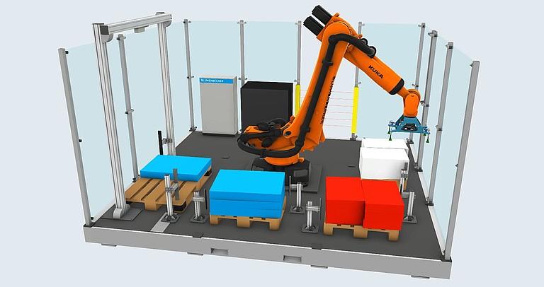 Moderní způsob expedice zboží - robotická paletizace