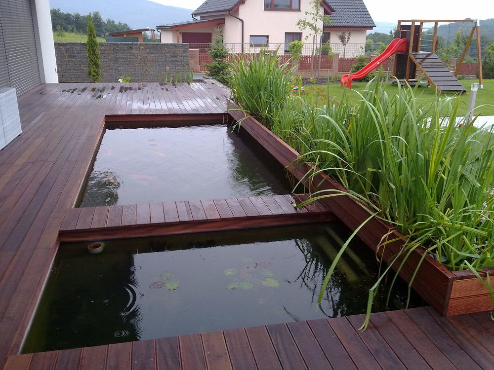 Konzultácie, realizácia, záhradné jazierko kúpacie, okrasné, bio bazén - Bratislava, Trenčín, Žilina