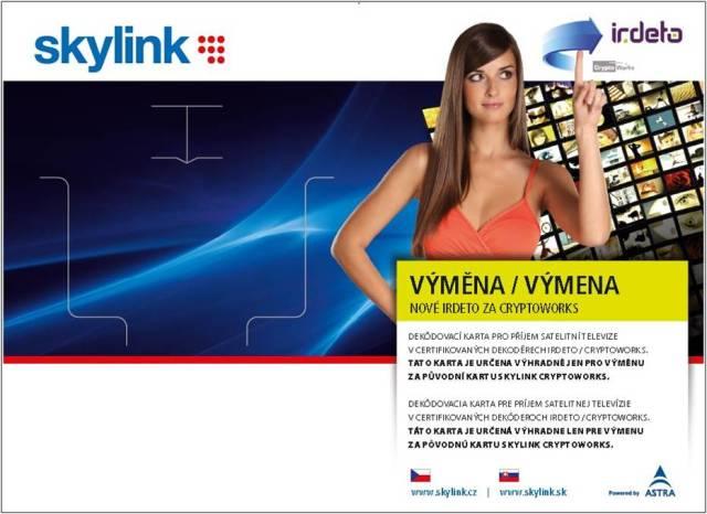 Výměna přístupové karty Skylink s bonusem - akce