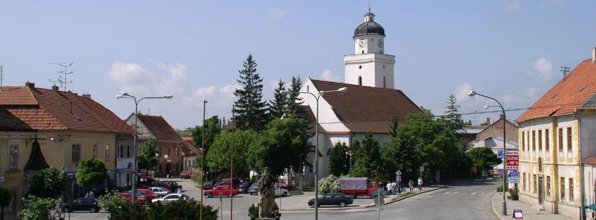 Město s Farním kostelem sv. Jakuba
