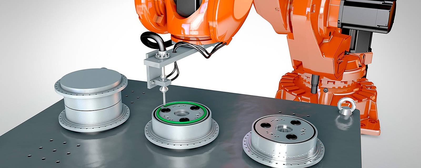 Spojovací robotický systém pro lepení a spojování