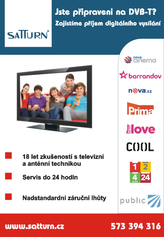 Společné televizní antény, STA, digitální vysílání Zlínský kraj