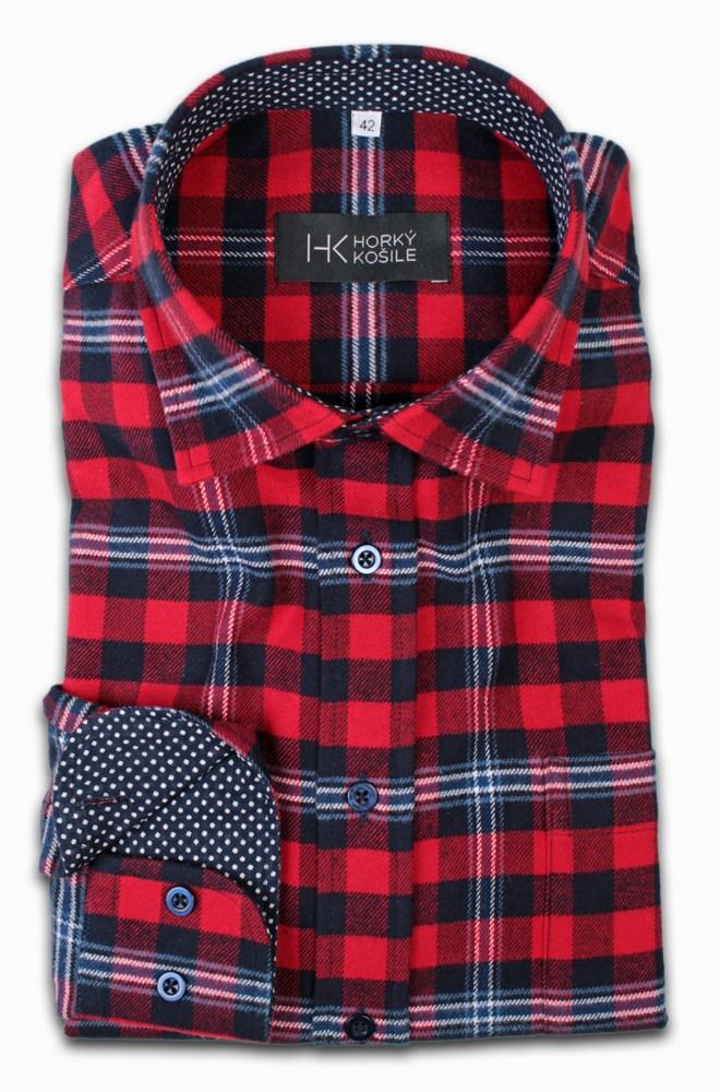 flanelová pánská košile Nikolas