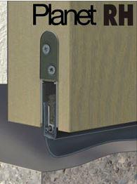 Tesnenie bezbariérových vstupov - padacie dverové tesnenie proti prievanu, hluku, dymu i ohňu
