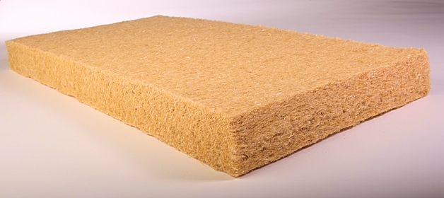 Natural insulating material with thermal insulation properties - hemp insulation, the Czech Republic