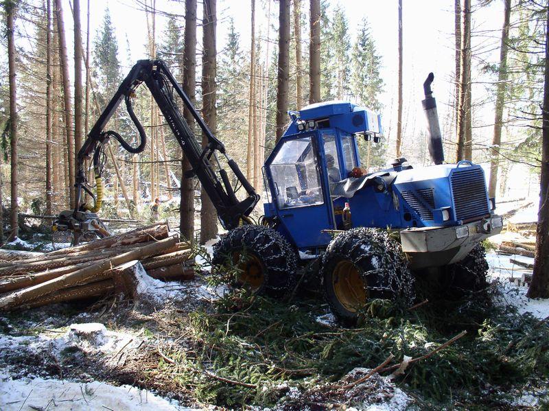 Přiblížení vytěženého dřeva