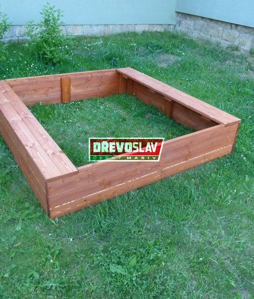 Dětské dřevěné pískoviště čtvercové