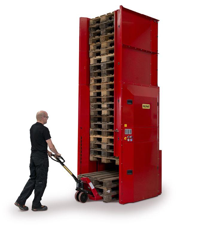 Automatizace a optimalizace ve skladování palet díky zásobníku Palomat
