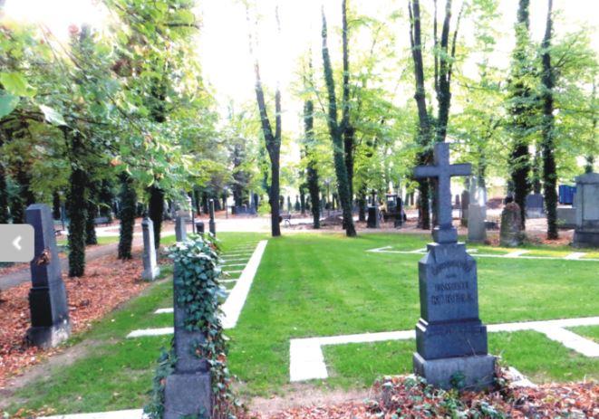 Loučka vsypu, ukládání popela do země - hřbitov Strašnice