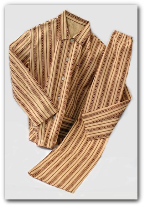 Pánská pyžama nadrozměrných velikostí - šití na zakázku