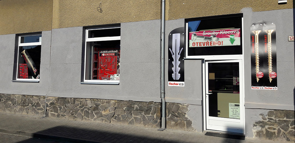 Prodej šroubů, spojovací materiál Kolín - prodejna Kolín na nové adrese