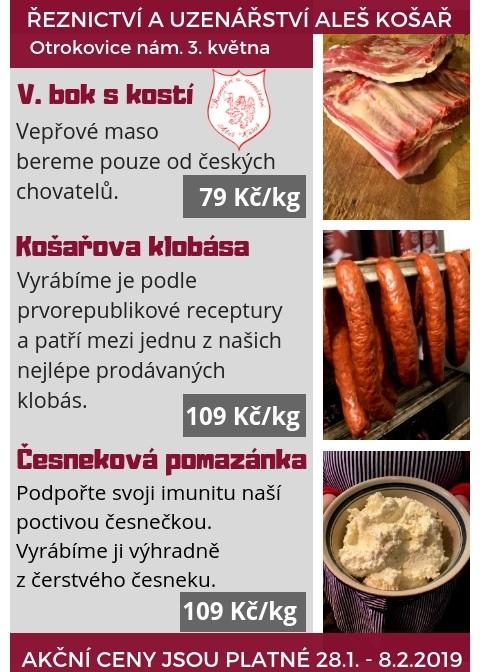 V rodinném řeznictví akce na domácí uzeniny, kvalitní maso - vše bez dochucovadel