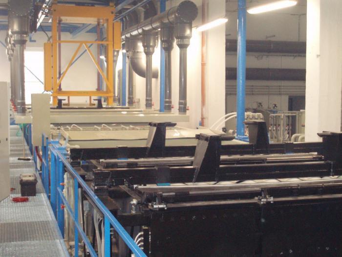 Galvanické linky – povrchové úpravy plastů a kovů