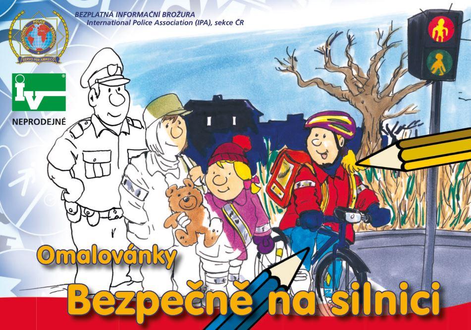 Bezpečnost silničního provozu pro děti – tematické omalovánky