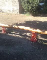 Výroba a montáž balanční prvky na dětská hřiště - balanční kladina