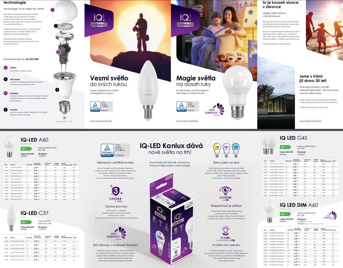 IQ-LED Kanlux žárovky s nízkou spotřebou energie