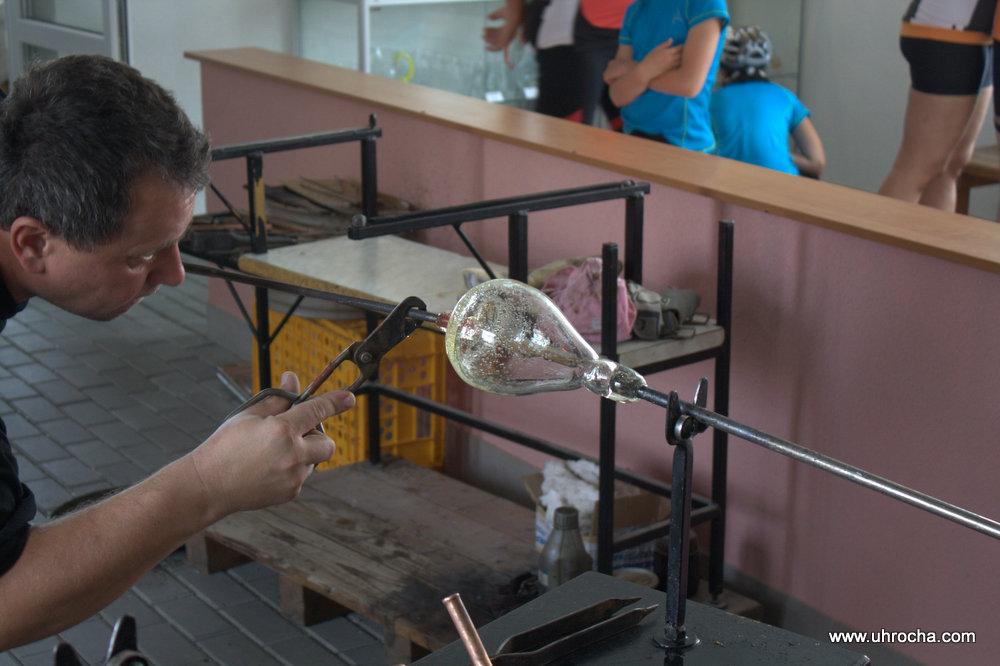 Tradiční výroba foukaného skla