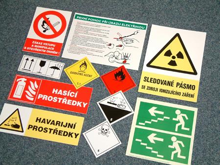 Technické štítky, samolepky, plastové tabulky, reklamní tisk