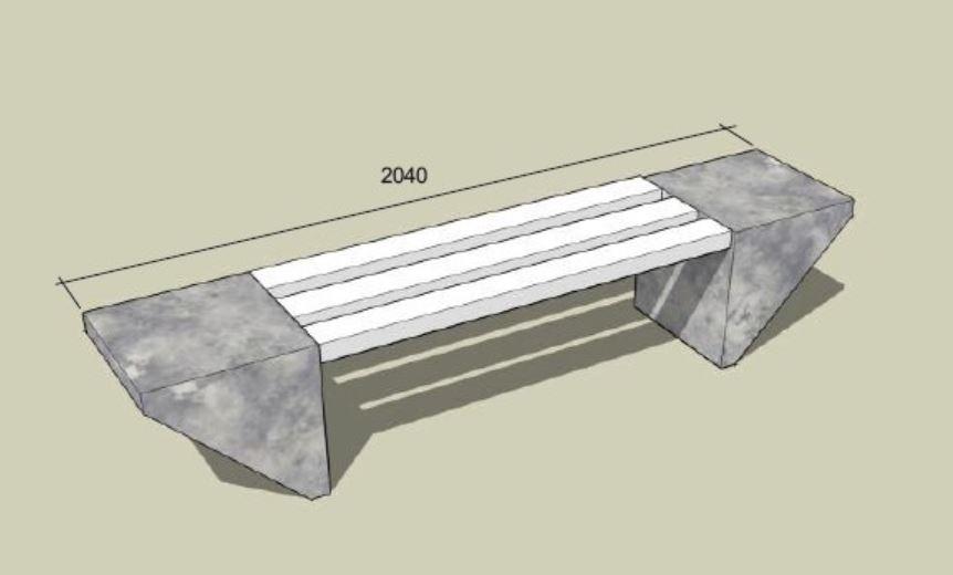Odolné venkovní betonové lavičky