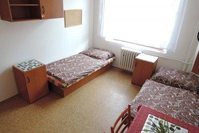 Moderní ubytování pro studenty v Praze, ve dvoulůžkových pokojích