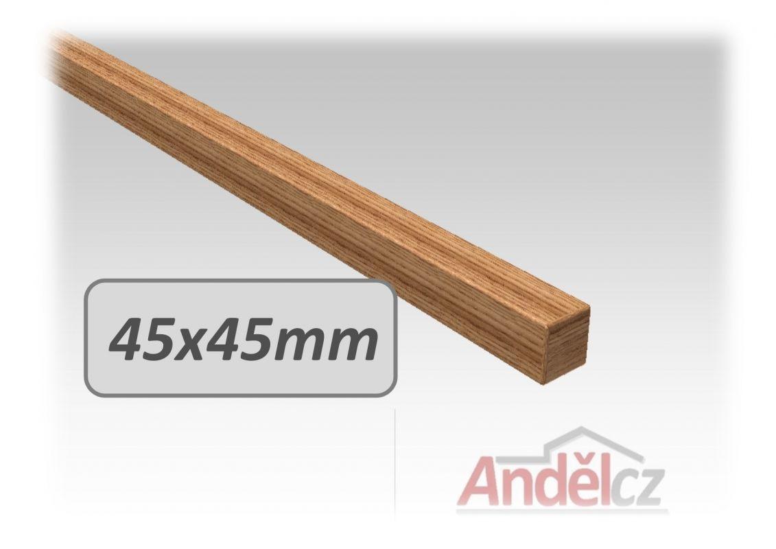 Madlo na zábradlí dřevěné hranaté