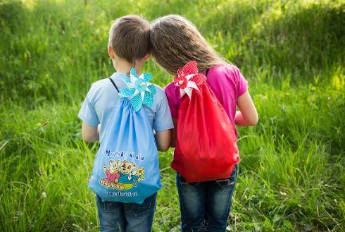Batohy, vaky či sáčky na přezůvky s potiskem pro mateřské školy a předškoláky