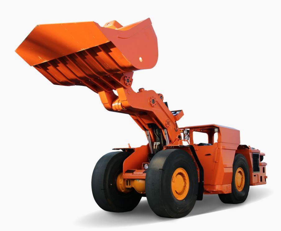 Důlní kolový nakladač pro podzemní doly a provozy je vhodný pro práci v náročných podmínkách