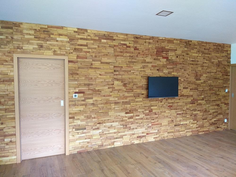 akátová mozaika - dřevěné obložení stěn