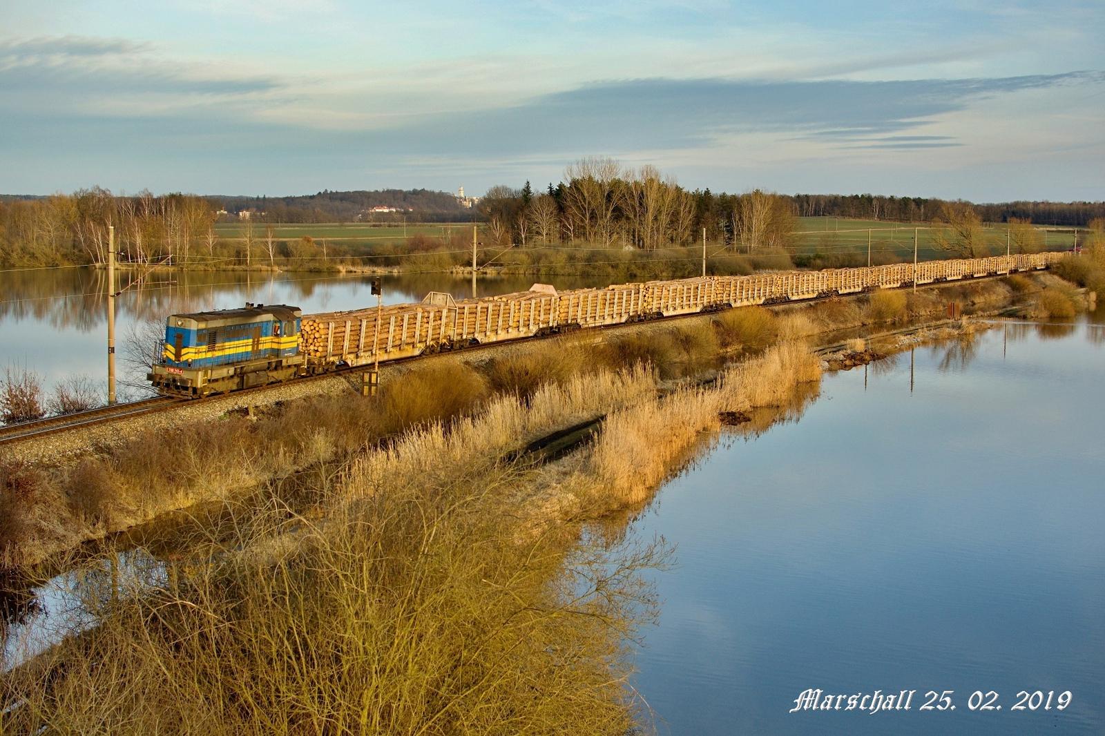 Doprava stavebního materiálu - železniční přeprava
