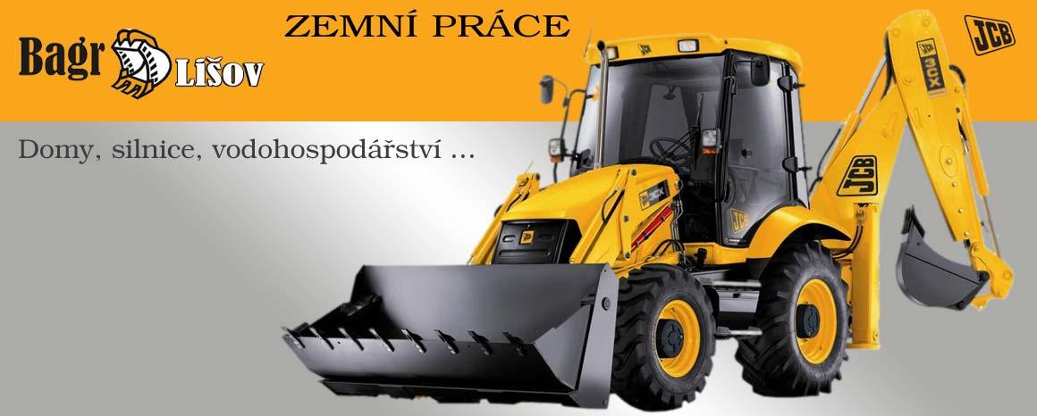 Bagrování, zemní práce a terénní úpravy, výstavba zpevněných ploch, nakládání materiálu