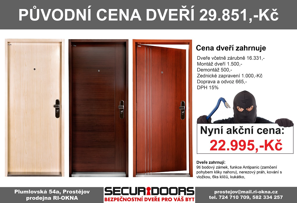 Montáž bezpečnostních dveří SECURIDOORS za výhodnou cenu