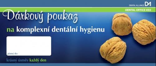 Zubní ošetření a dentální hygiena Praha – dárkové poukazy