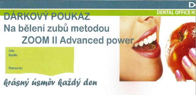 Dárkový poukaz na bělení zubů