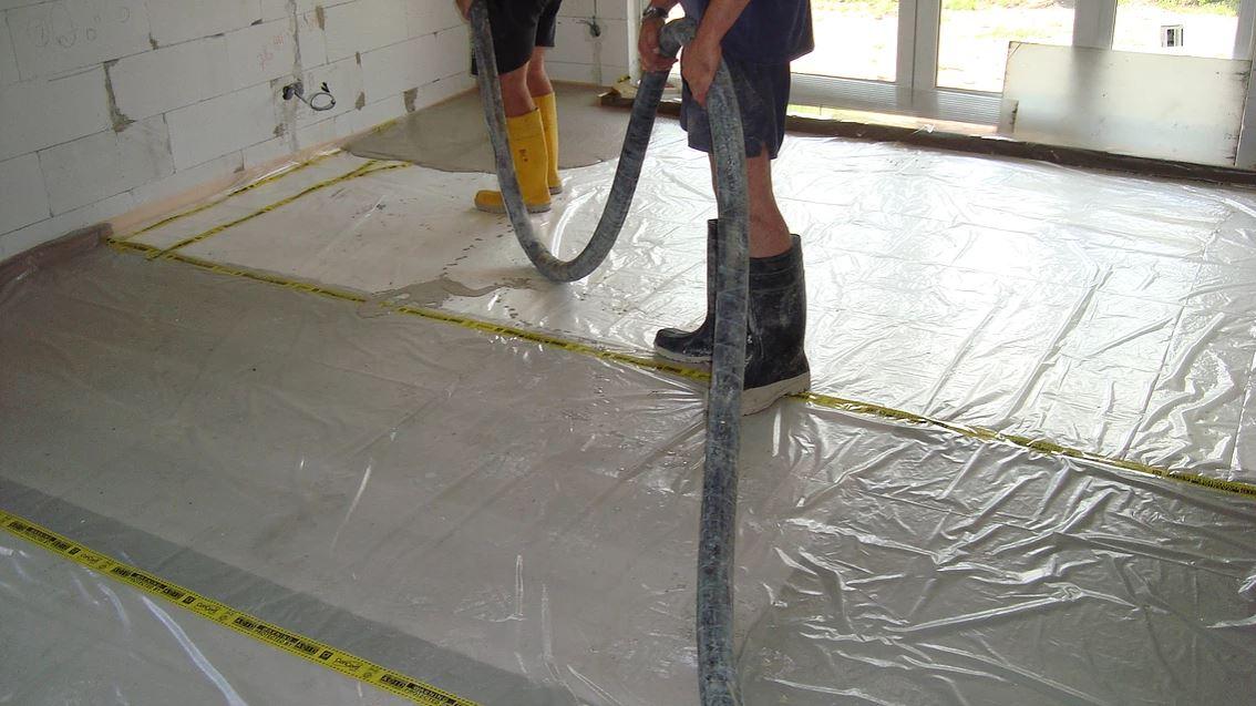 Lité anhydritové podlahy