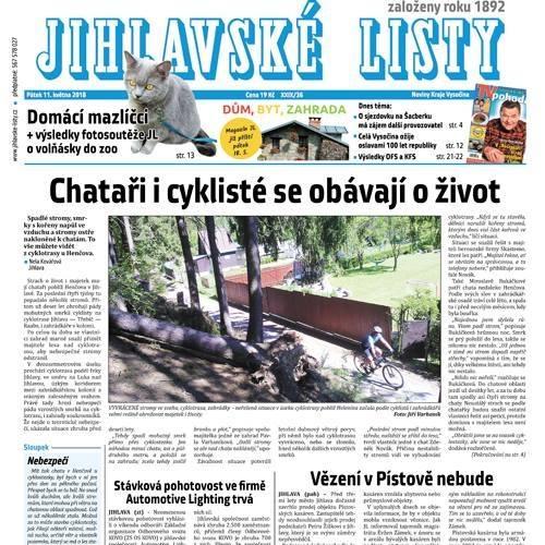 Noviny s mnoha rubrikami, zprávy, kultura, sport, inzerce