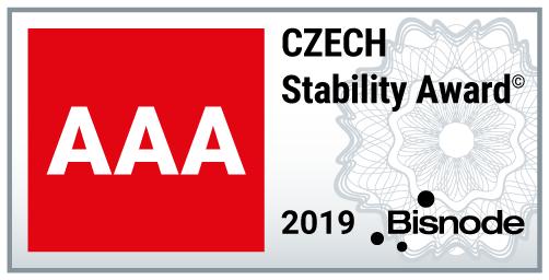 FREKO a.s. - ocenění CZECH STABILITY AWARD 2019